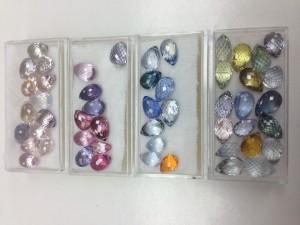 Multi-color Sapphire Briolettes